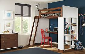 bedroom loft bed with desk and couch bedrooms