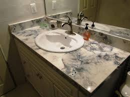 Cement Bathroom Vanity Top And White Veined Concrete Bathroom Top