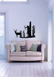 popular hunting wall murals buy cheap hunting wall murals lots modern hunter hunting deer in the forest autocollants muraux wall stickers vintage posters for living room