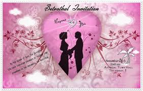 Engagement Invitation Cards Designs An Invitation Card For Betrothal Of My Best Friend