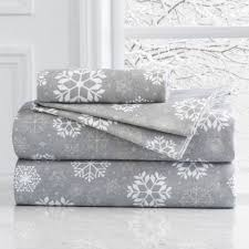 grand patrician king flannel duvet cover in snowflake