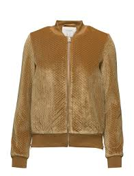 selected femme sfalba bomber jacket golden brown 74 99 selected femme