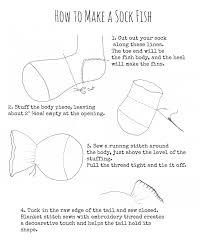 how to make a sock fish pinkyminky