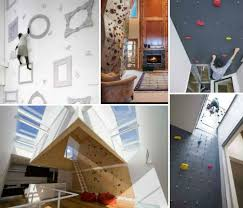 Domestic Daredevils  Insanely Cool Home Climbing Walls Urbanist - Home rock climbing wall design
