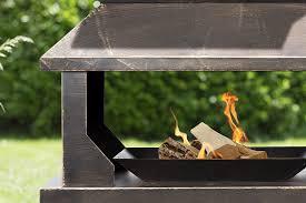 Steel Firepit Large Steel Firepit With Log Holder Base Savvysurf Co Uk