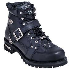 motorcycle footwear mens milwaukee boots men s mb433 road captain black motorcycle boots