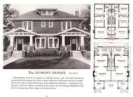Old House Plans Dumont Duplex 1920s Sears Homes Floor Plans Pinterest