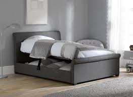 Stylish Bed Frames Fabric Frames King Upholstered Frame Grey Beverly With Cheap