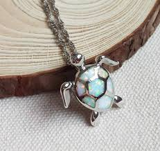 white opal necklace fire opal sea turtle pendant necklace that opal store