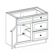 3 Drawer Base Cabinet Vanity Sink Base Cabinet With 3 Drawers Right 42