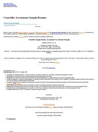 controller sample resume accountant cga resume example
