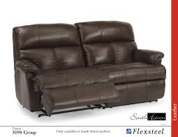 Flexsteel Leather Sofas by Flexsteel Reclining 3098 Triton Leather Sofa Group