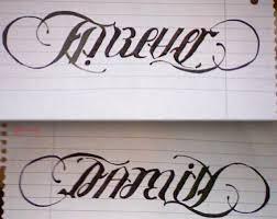 forever family ambigram tattoos tatting