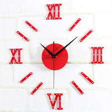 popular wall sticker clock buy cheap lots from fashion wall clock stickers diy homey design luxury size home decoration