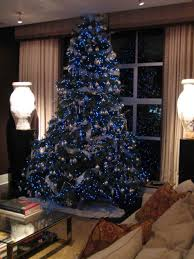 blue and silver tree theme skirt ideas