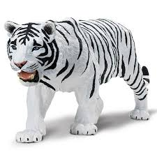 white siberian tiger figure safari radar toys radar toys