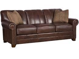 Fabric Or Leather Sofa King Hickory Leather Sofa 3600 L