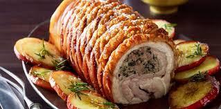 cuisiner roti de porc rôti de porc farci facile et pas cher recette sur cuisine actuelle