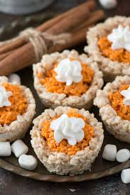 mini pumpkin pie rice krispies the year