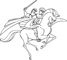 hercules and pegasus fighting coloring pages wecoloringpage