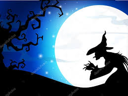 the halloween tree background scary full moon night background with dead tree and halloween ba