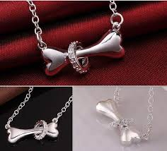 fine chain pendant necklace images Wholesale paw silver necklace 925 sterling silver fine dog bone jpg