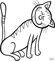 kitty enjoys stroking coloring page free printable coloring pages