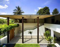 remarkable small trend modular geometrical home design definition tropical house design idea with white wall white outdoor staircase brown pillars and green plants stunning