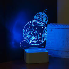 star wars robot bb 8 3d visual night light