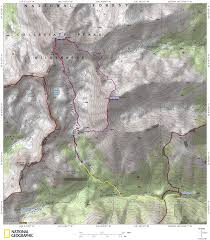 14ers Map Mt Harvard And Mt Columbia Denverdavis
