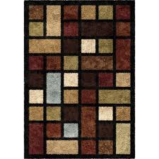 Rug Color Orian Rugs Soft Shag Color Grid Multi Colored Area Rug Walmart Com