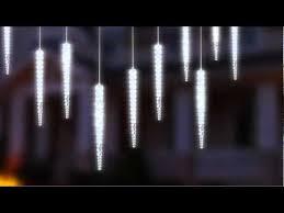 10 solar icicle curtain light garland with cascading