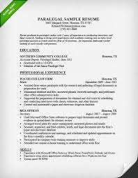 Work Experience Examples For Resume by Paralegal Resume Sample U0026 Writing Guide Resume Genius