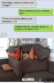 Blanket Fort Meme - pillow fort by recyclebin meme center