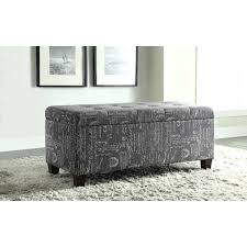 Ottoman With Flip Top Tray Ottoman Flip Top Table Cursive Print Tufted Flip Top Ottoman With