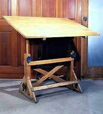 Vintage Drafting Tables Drafting Table Desk Vintage Industrial Fully Adjustable Drafting