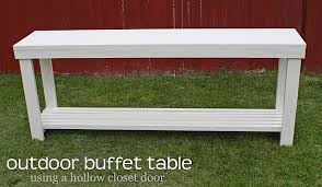 Homemade Patio Table by Best 25 Outdoor Buffet Tables Ideas On Pinterest Events