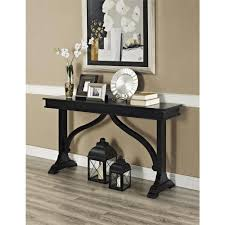 Black Console Table With Drawers Altra Furniture Winston Black Console Table 5073096 The Home Depot
