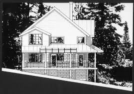 side elevation drawing of tahoe get a way ink on mylar with xerox