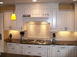 kitchen white glass subway tile backsplash beige subway tile