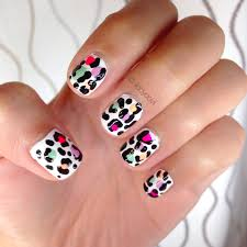 manicure monday colorful leopard nails styled with joy