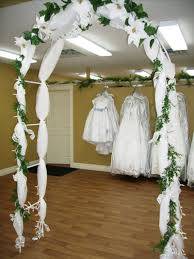 a wedding arch
