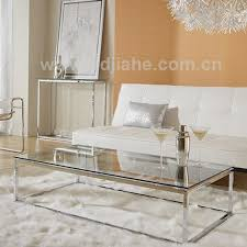 X Base Side Table X Base Coffee Table S Shape Stainless Steel Leg Glass Coffee Table