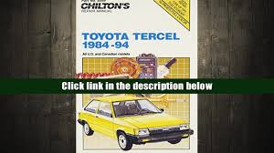 audiobook toyota tercel 1984 94 chilton model specific automotive