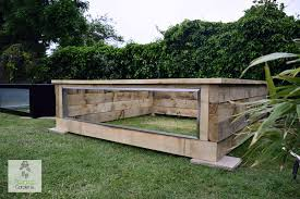 wooden railway sleeper pond kits with windows atlantica gardens