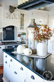 decorate kitchen island fall home tour part 2 fall decor kitchens and decorating