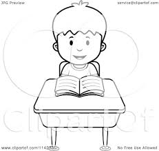 coloring picture of a boy reading fun coloring pages