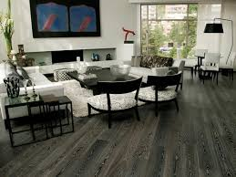 living room with grey laminate flooring vinyl plank flooring
