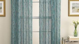 modern peacock curtain with blue and beige to close window at your