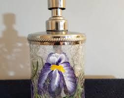 Glass Soap Dispenser Etsy - Bathroom hand soap dispenser